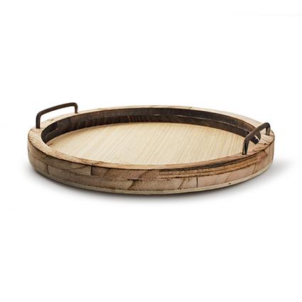 Wooden plate naturel h3 d34 cm
