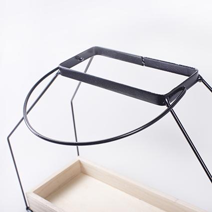 wandhanger hout+metaal 16x7x27,5/40 cm