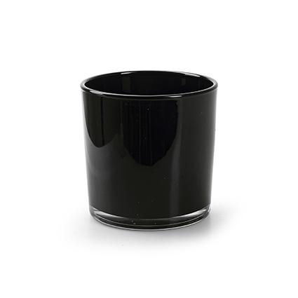 Kon. vaas 'monaco' zwart h10 d10 cm