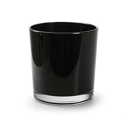 Kon. vaas 'monaco' zwart h12 d11,5 cm