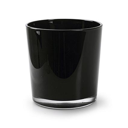 Konische vaas 'monaco' zwart h13 d12,5 cm