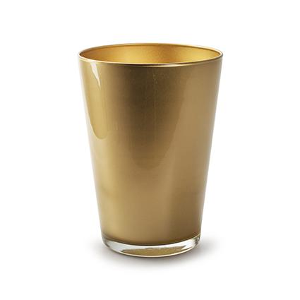 Konische vaas 'kick' goud h20 d14 cm