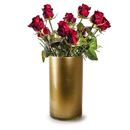 Cilinder 'arthur' goud h30 d16 cm