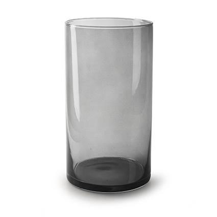 Cilinder 'arthur' smoke transparant h30 d16 cm