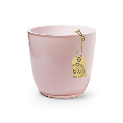Eco pot 'extra heavy' pink h12