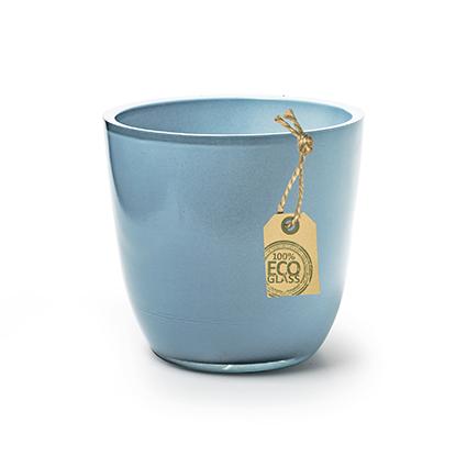 Eco pot 'extra heavy' blauw h12 d13cm