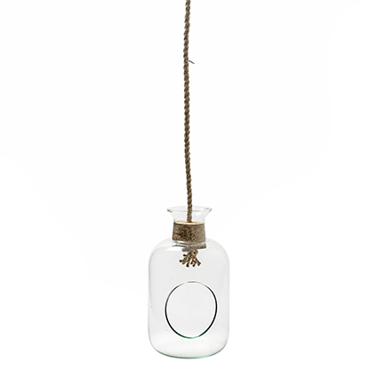 Eco bottle+hole+cork+rope h25