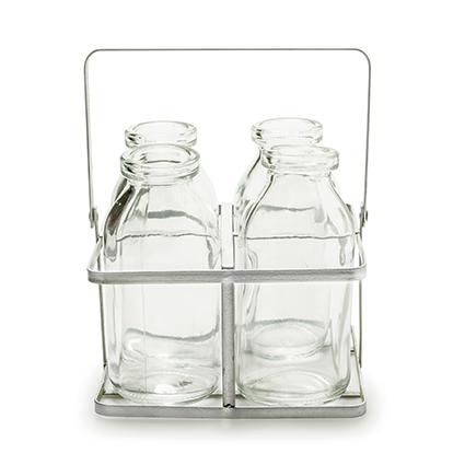 Rek+4x glas 'kaia' h11 d12x12 cm