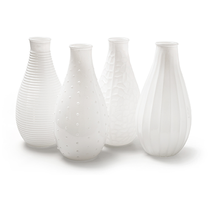 Vase 'decor xl' 4ass white h24