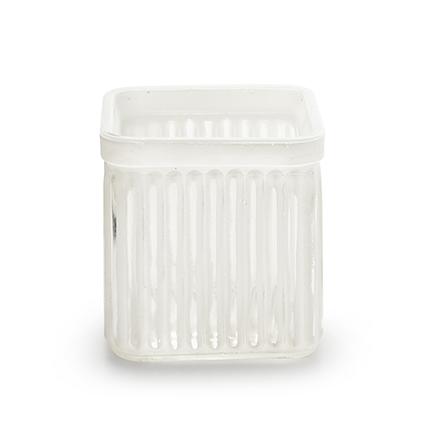 Cube 'bonny' white 7,5x7,5 cm