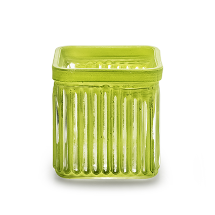 Cube 'bonny' green 7,5x7,5 cm