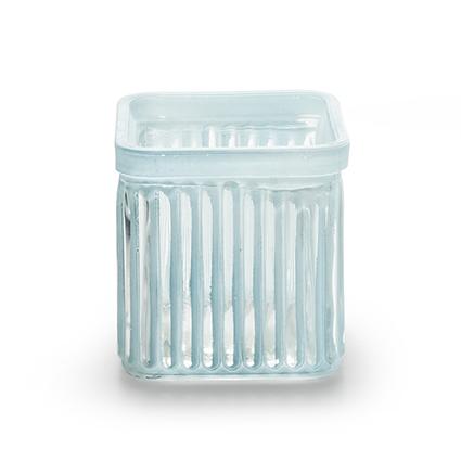 Cube 'bonny' blue 7,5x7,5 cm