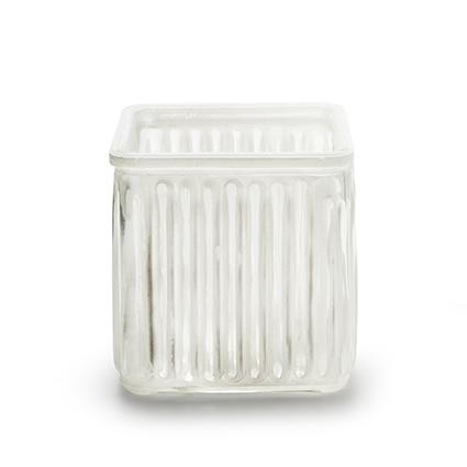 Cube 'bonny' white 10x10 cm