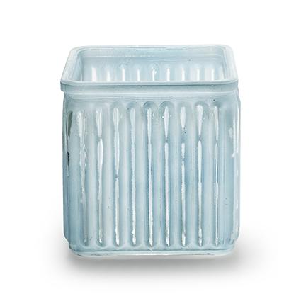 Cube 'bonny' blue 10x10 cm