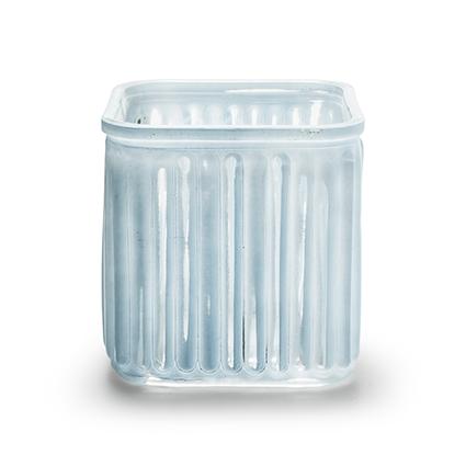 Cube 'bonny' blue 12x12 cm