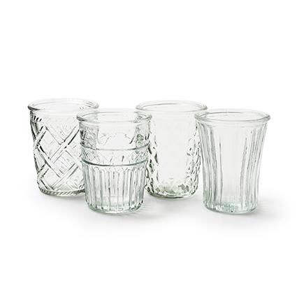 Vase mix 'vintage' 4ass. h12,5