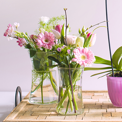 Vase ' flower power' h15,5d10
