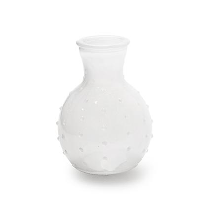 Vase 'spickel' white h10 d7 cm