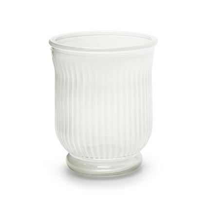 Vase 'stripe' white h13,5 d11