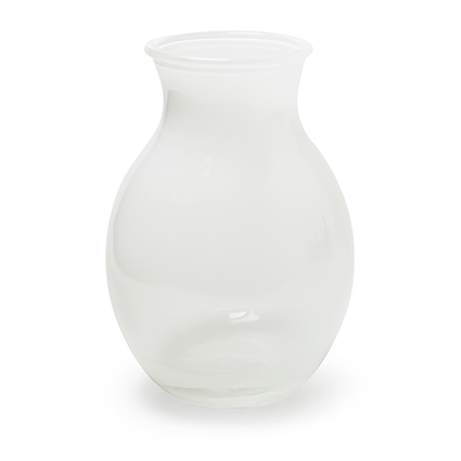 Vase 'ivana' white h19,5 d13,5