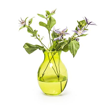 Vaas 'ivana' groen h19,5 d13,5 cm
