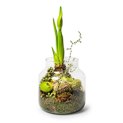 Eco bolvaas met kraag 'hooper' h17 d17 cm