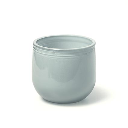 Glass 'jade' blue h7 d7,5cm