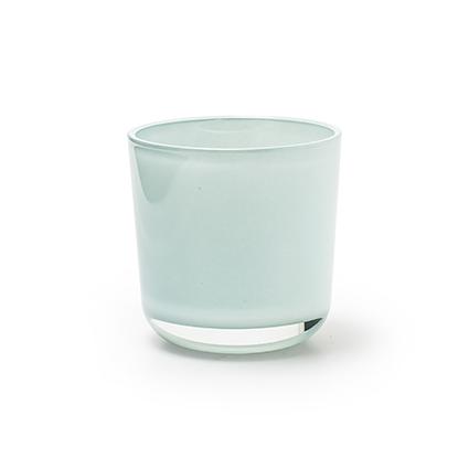 Cilinder 'davinci' blue h7.8 d7.8 cm