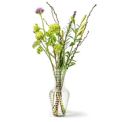 Rib vase ' cairo' h35 d15 cm