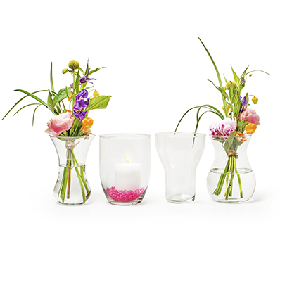 Vase mix 'delta' 4-ass.h18 d14