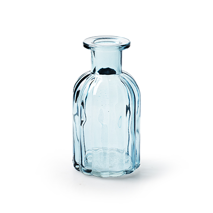 Flesje 'norinne' blauw h10.5 d5.5 cm