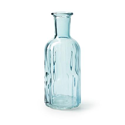 Bottle vase 'norinne' blue h19 d7.5 cm