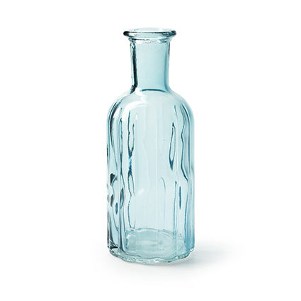 Fles 'norinne' blauw h19 d7.5 cm