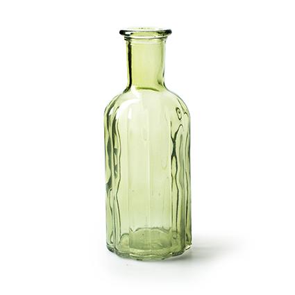 Fles 'norinne' groen h19 d7.5 cm