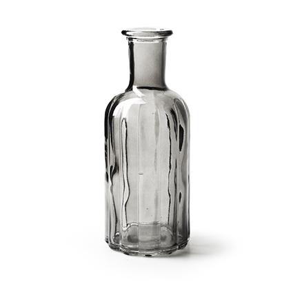 Bottle vase 'norinne' smoke h19 d7.5 cm