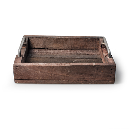 Tray 'rootz' h6 d25x25,5 cm