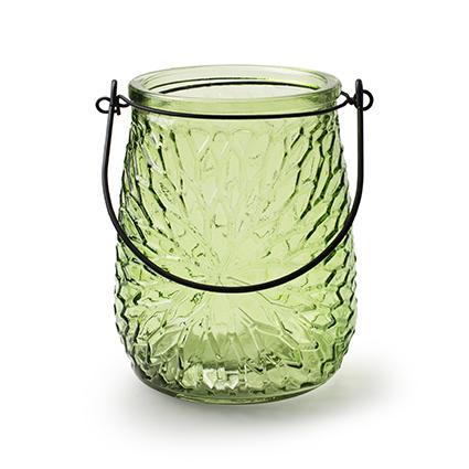 Lantaarn 'pacha' groen h14 d11 cm