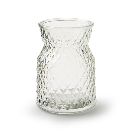 Vase 'posh' h13,5 d10 cm