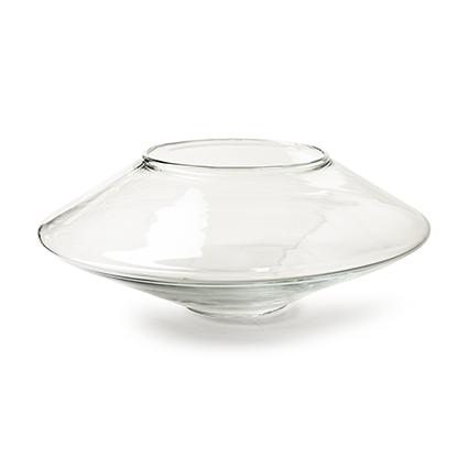 Vase 'discus' h12 d30 cm