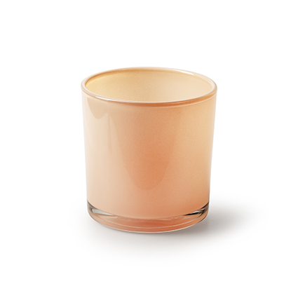 Conical vase 'monaco' salmon pink h10