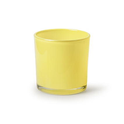 Conical vase 'monaco' yellow h10 d10cm
