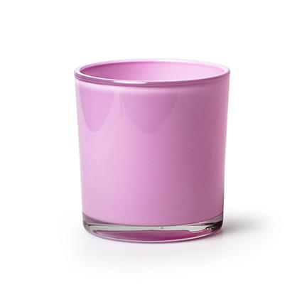 Conical vase 'monaco' pink h12 d11,5 cm