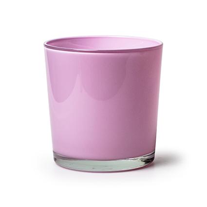 Kon. vaas 'monaco' roze h13 d12,5cm