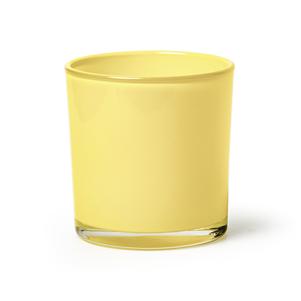 Conical vase 'monaco' yellow h13 d12,5