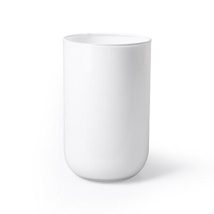 Cylinder 'davinci' white h21 d13 cm
