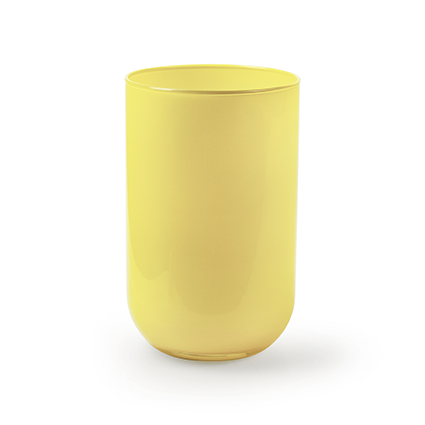 Cylinder 'davinci' yellow h21 d13 cm