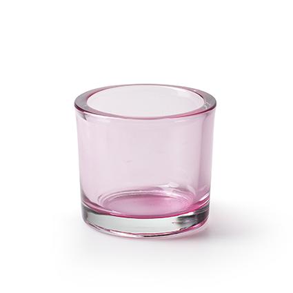 Cilinder 'heavy' roze T h8 d9 cm