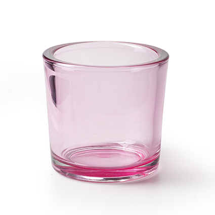 Cylinder 'heavy' pink T h12 d12 cm