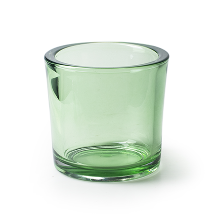 Cilinder 'heavy' groen T h12 d12 cm