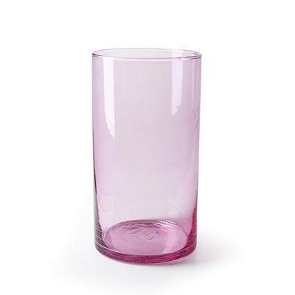 Cylinder 'arthur' pink T h30 d16 cm